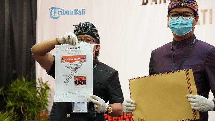 BREAKING NEWS: KPU Badung Undi Tata Letak Paslon,  Paket GiriAsa Berada di Sebelah Kanan