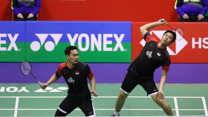 Wakil Indonesia Ahsan/Hendra Raih Kemenangan Pertama Usai Hajar Wakil Rusia di BWF World Tour Finals