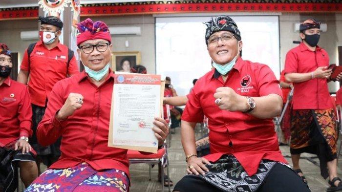 Pasangan GiriAsa setelah mendapatkan rekomendasi dari PDIP pada Jumat (28/8/2020).