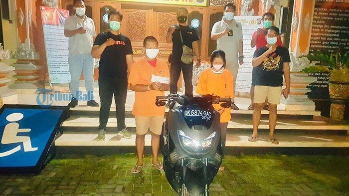 Pasangan Suami Istri Asal Tabanan Sekongkol Curi Sepeda Motor di Vila Desa Pererenan Mengwi Badung