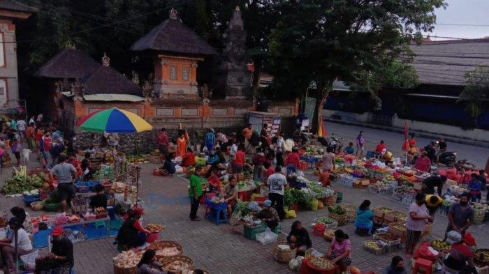 Pasar Ubud Terapkan Physical Distancing, 300 Lebih Pedagang Tertampung