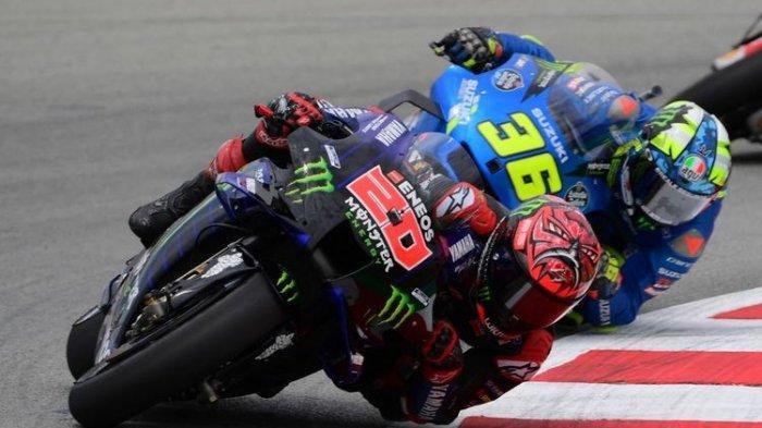 Pebalap Monster Energy Yamaha, Fabio Quartararo, mengalami nasib sial pada balapan MotoGP Catalunya 2021, Minggu, 6 Juni 2021.