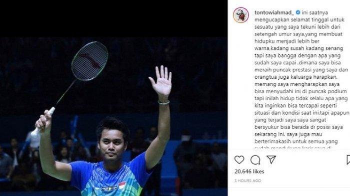 Juara All England & Peraih Emas Olimpiade Rio 2016 Ini Pensiun, Tontowi Ahmad Tulis Ucapan Sedih