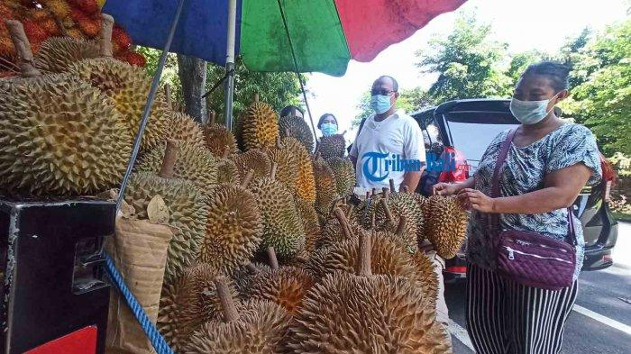 Pedagang Buah Musiman Menjamur di Denpasar, Durian Rp 45 Ribu Rambutan Rp 10 Ribu