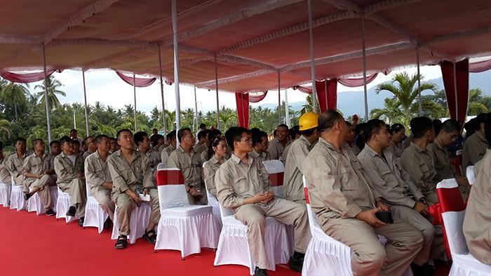 Pekerja Indonesia Sama Sekali Tak Tampak Saat Peresmian PLTU Celukan Bawang