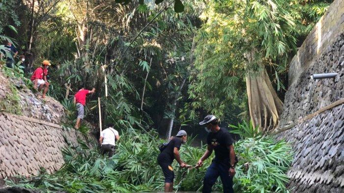 Tiga Banjar Gotong Royong Bersihkan Tukad Lobong dan Tukad Junggut di Denpasar Bali