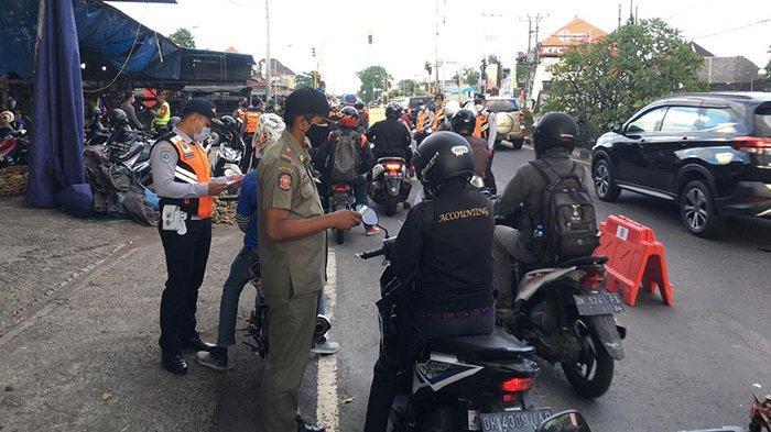 Penyekatan di Denpasar, 98 Kendaraan Diminta Putar Balik