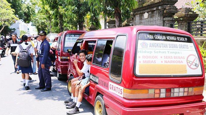Terkena Refocusing Penanganan Covid, Anggaran Angkutan Siswa Gratis di Klungkung Hanya Cukup 14 Hari