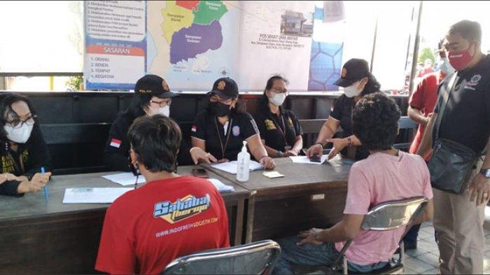 Alasan Lupa, 11 Pelanggar Prokes Terkait Penggunaan Masker Terjaring di Desa Ubung Kaja Denpasar
