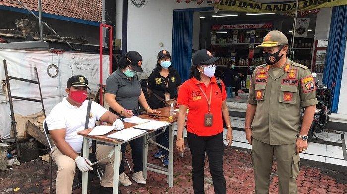 Sidak Masker di Kelurahan Padangsambian Denpasar, Jaring 17 Pelanggar, Ada yang Dihukum Push Up
