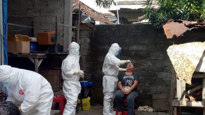 Tukang Panggul Positif Covid-19 Meninggal, 32 Warga di Jalan Ternate Denpasar di Swab Test