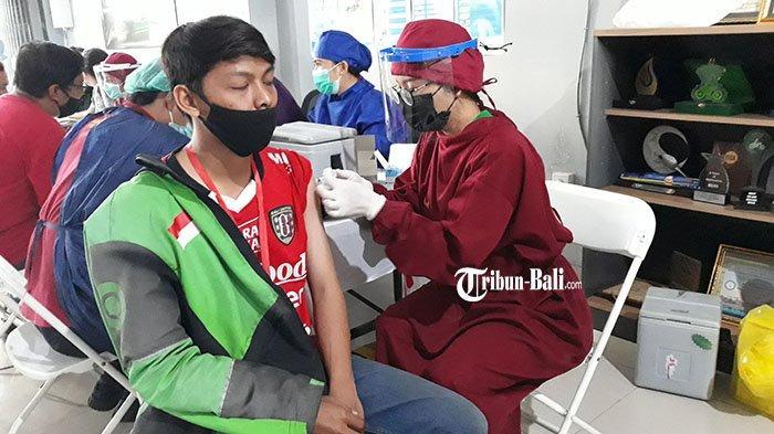 Kejar 5 Persen Menuju Herd Immunity, Pemkot Denpasar Vaksin 1.000 Driver Ojol