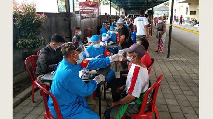 Polres Bangli Gelar Vaksinasi Massal, 631 Warga Tervaksin, Siapkan Jemputan untuk yang Terkendala
