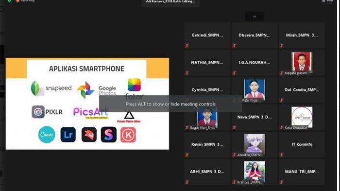 Serangkaian MPLS, 600 siswa SMP di Denpasar Ikuti Webinar Agar Makin Cakap Digital