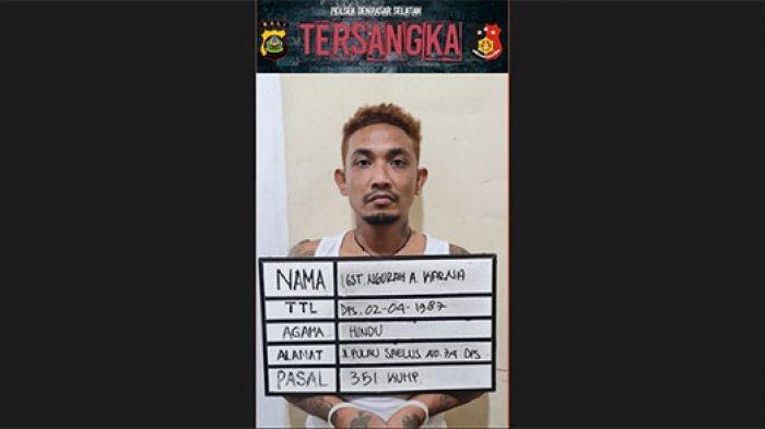 Tersinggung Pacar Dipandang, Agung Karna Aniaya Pemuda di Denpasar