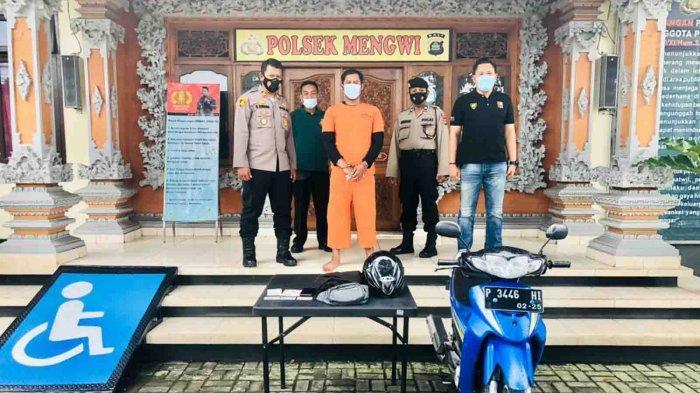 Curi Dua HPdi Banjar Gunung Tumbak Bayuh Mengwi, Moch Maskuri Diamankan Polsek Mengwi