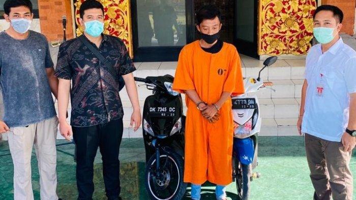 Polresta Denpasar Ringkus Pelaku Curanmor dan Barang Bukti Dua Motor