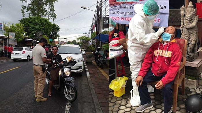 Pelanggar Prokes di Denpasar Dapat Tes Rapid Antigen Gratis di Tempat, Hari Ini Terjaring 9 Orang