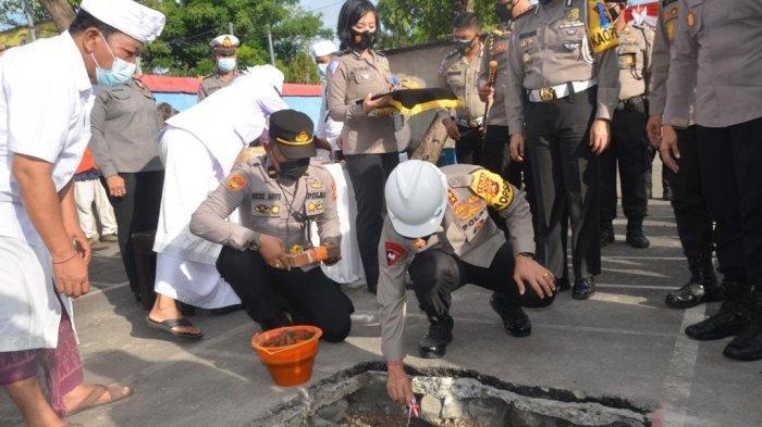 Peletakan Batu Pertama Pembangunan Gedung Sarpras Polres Karangasem Bali, Ini Pesan Kapolda Bali