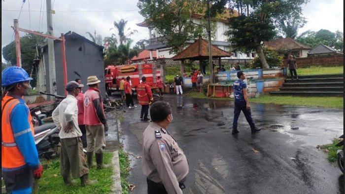 Damkar Badung Turunkan 2 Unit BW untuk Padamkan Api Kebakaran Warung di Desa Sulangai Petang