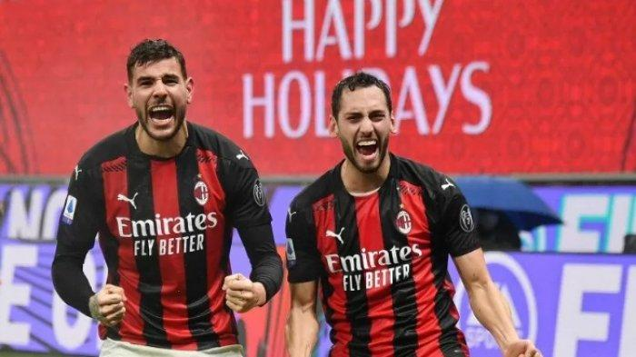 2 Pemain AC Milan Calhanoglu dan Theo Hernandez Positif Covid-19