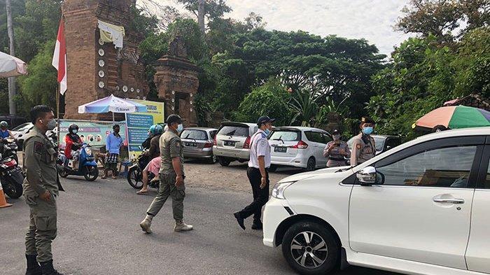Tekan Penyebaran Covid 19, Tim Yustisi Kota Denpasar Pantau Prokes di Obyek Wisata
