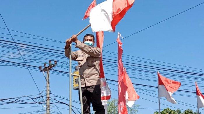 Sambut Hari Kemerdekaan Indonesia, Polsek Jembrana Berhias, Sudarma: Kita Harus Tetap Semangat