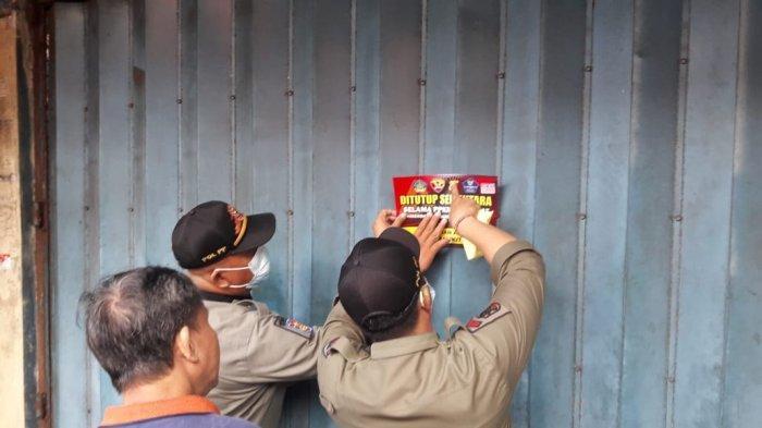 PPKM Darurat, 25 Perusahaan Non Esensial di Denpasar Dipasangi Stiker, 5 Pedagang Kaki Lima Dibina