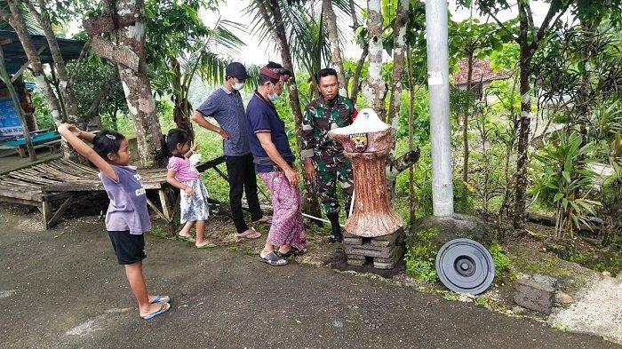 Kodim 1610/Klungkung Pasang Wastafel di Tempat Ibadah di Nusa Penida