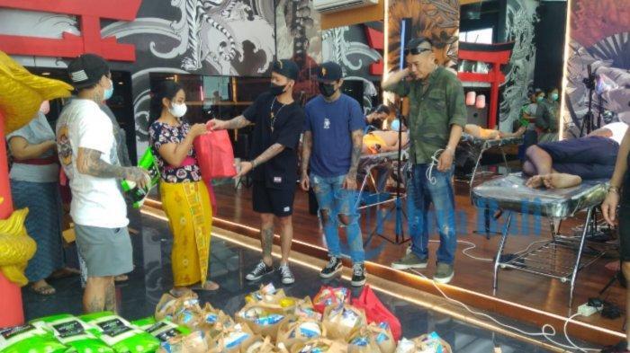 Hendric Shinigami Seniman Tato di Bali Buktikan Rasa Empati Berbagi di Tengah Pandemi
