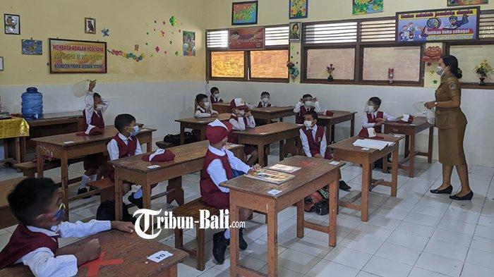 Brahma Senang Mulai Belajar di Sekolah, Hari Pertama Penerapan Sekolah Tatap Muka di Klungkung