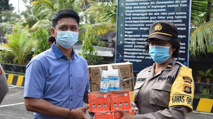 Harapkan Personel Bebas Covid-19, Waka Polres Badung Serahkan APD dari Kapolda Bali