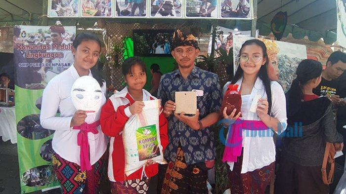 Jadi Pelopor Sekolah Non Plastik, SMP di Denpasar Ini Sabet Penghargaan dari Thailand & India