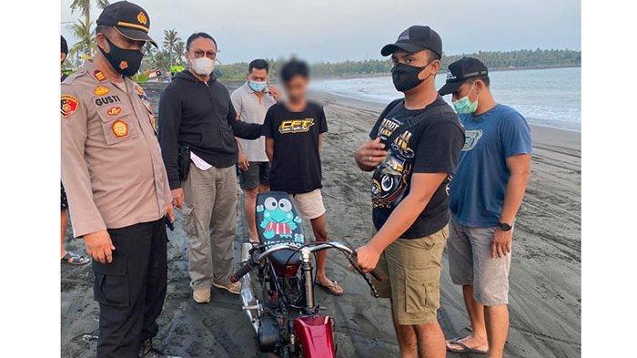 Balap Liar di Pantai Pebuahan Jembrana, Satu Anak yang Berupaya Kabur Nyaris Tabrak Polisi