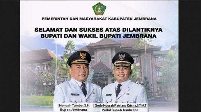 Pemerintah dan Masyarakat Jembrana Mengucapkan Selamat Atas Dilantiknya Bupati dan Wabup Jembrana