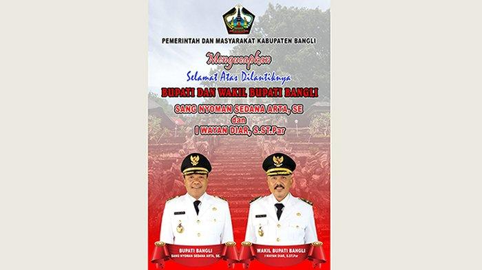 Pemkab Bangli Mengucapkan Selamat Atas Dilantiknya Bupati dan Wakil Bupati Bangli