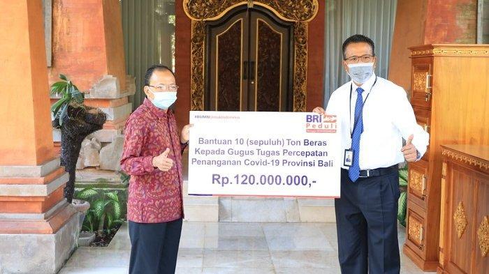 Bantu Penanganan Pandemi Covid-19, BRI Wilayah Denpasar Serahkan 10 Ton Beras ke Pemprov Bali