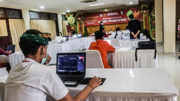 Pemprov Bali Melaksanakan Lomba Ngetik Aksara Bali di Bulan Bahasa Bali 2021, Diikuti 8 Peserta