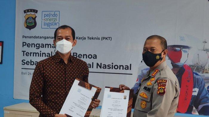 Polda Bali Mulai Amankan Obyek Vital Terminal Gas Alam Cair di Benoa Denpasar