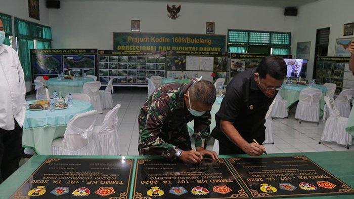 Wabah Covid-19 Tak Halangi Perjuangan Prajurit TNI Kodim 1609 Buleleng Tuntaskan TMMD ke-107
