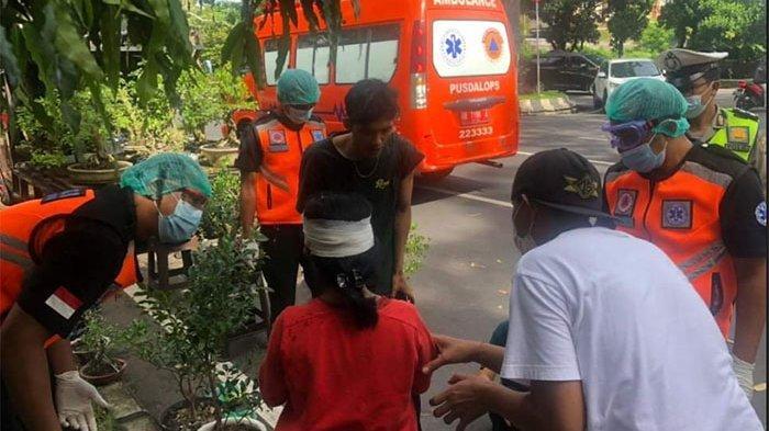 Laka Lantas Pemotor & Pejalan Kaki di Kawasan Plaza Renon Denpasar, Diselesaikan Secara Kekeluargaan