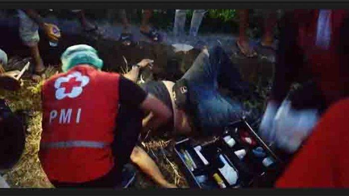 Diduga Mabuk, Pria Paruh Baya Alami Lakalantas Tunggal di Jalan Pura Demak Denpasar Kamis Malam