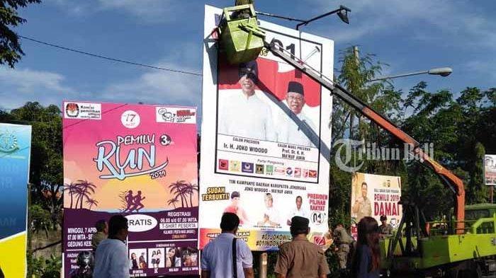 Masa Tenang Pemilu 2019, Penurunan APK di Jembrana dan Bangli Terus Dilakukan