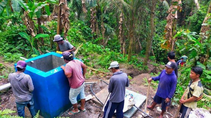 Pengerjaan Pompa Hidram untuk Distribusi Air ke 205 KK di Desa Manduang Klungkung Sudah 94%