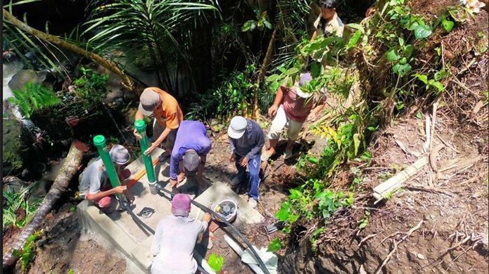 Bantu Distribusi Air Bersih ke 205 KK, Pengerjaan Pompa Hidram di Desa Manduang Klungkung Sudah 94 %