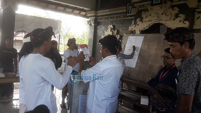 Mantra-Kerta Kalah 18 Suara di TPS 9 Banjar Buana Sari Tempat Sudikerta Mencoblos