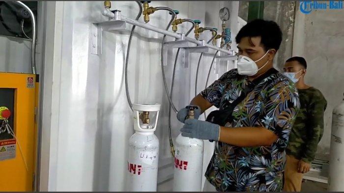 Tim Aksi Kasih GRII Denpasar Berikan Fasilitas Isi Ulang Oksigen Gratis