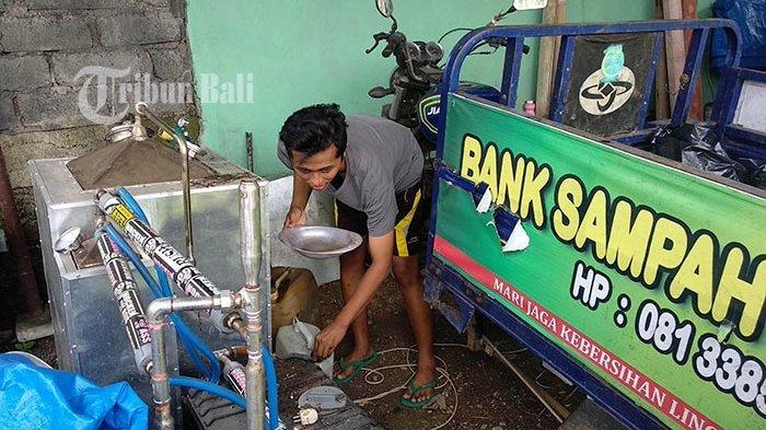 Bank Sampah Cemara Pangkung Tabanan Olah Sampah Plastik Jadi Minyak