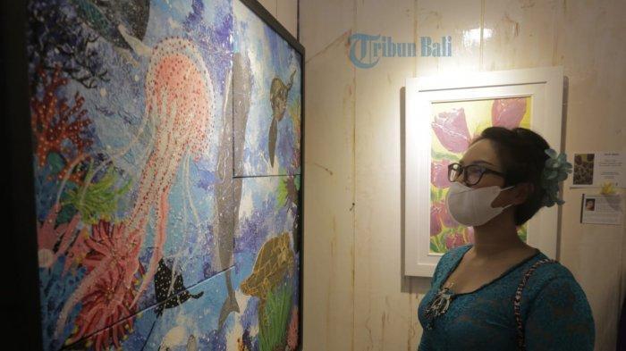 35 Perempuan Pamerkan 122 Lukisan di Denpasar Bali, Peduli Alam Lewat Lukisan