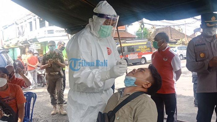 10 Orang di Pasar Kidul Bangli Bali Diambil Sample Antigen